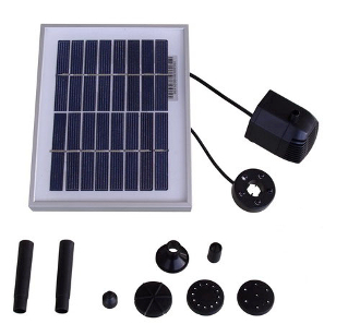 Solar Pump with LED & Timer