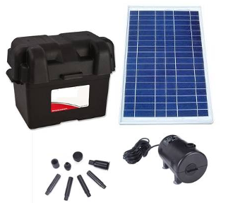 Solar Medium Brushless Pump with Battery System