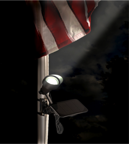 Solar Flag Pole Spotlight