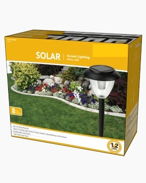 Solar Plastic OPP Path Light
