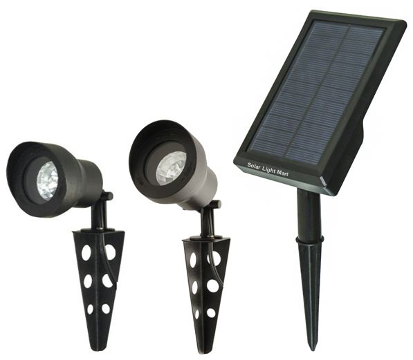 Mini 30X Twin Solar Spotlights Set