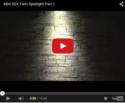 Mini 50X Solar Twin Spotlights YouTube Video 1