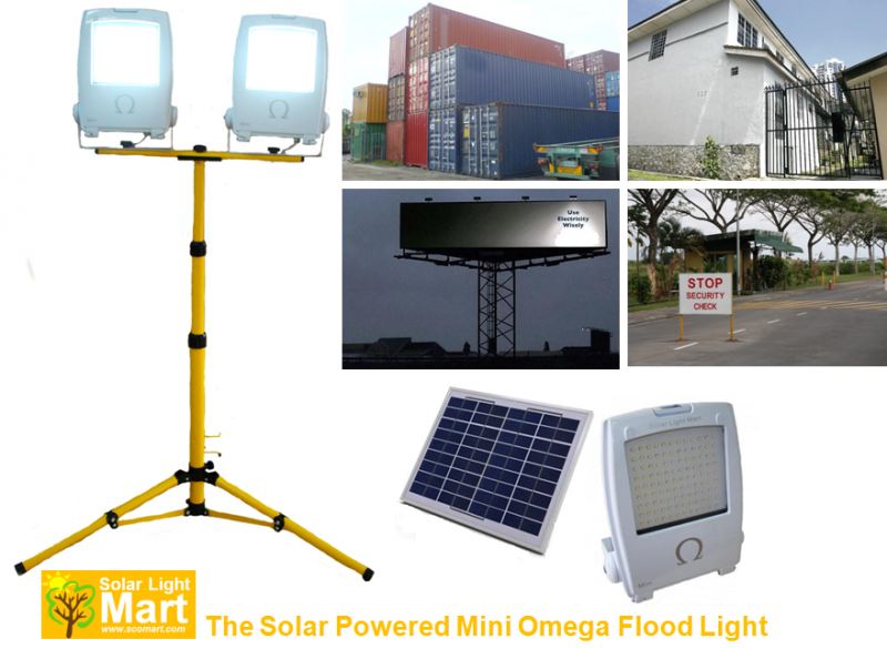 Solar Mini Omega Flood Light