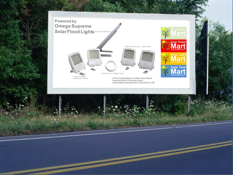 Omega Supreme Solar Flood Light All In One - Billboard