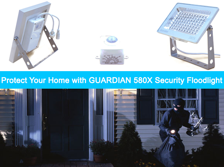 Guardian 580X Solar Flood Light Protect Your Home
