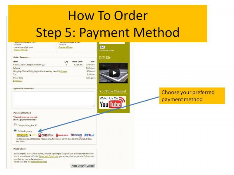How to order 5