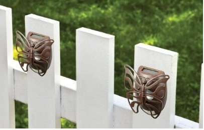 Solar Butterfly Wall Light