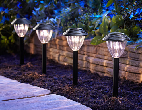 Solar Woven Metal Path Light