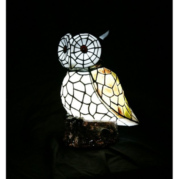Solar Mosiac Owl Light