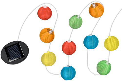Solar Fabric Lantern String Light